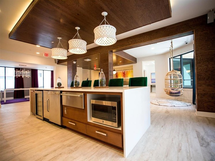 Modern Kitchen With Custom Cabinet at The Dartmouth North Hills Apartments, North Carolina