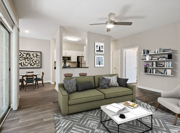 Large Living Spaces at The Enclave at Crossroads in Cary, NC. Offering a variety of open floor plans