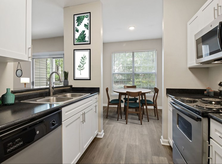 Fully Equipped Kitchen With Modern Appliances at The Enclave at Crossroads, North Carolina