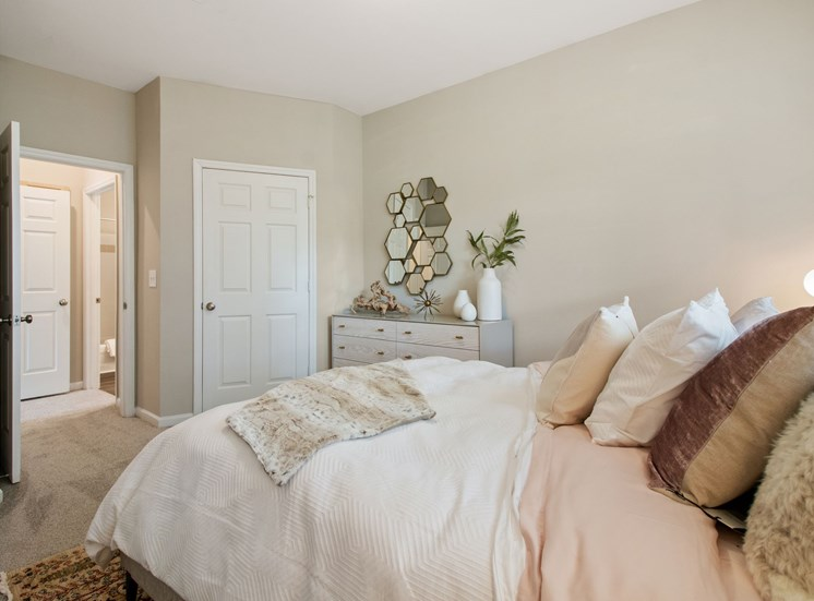 Bedroom at The Enclave at Crossroads in Cary, NC. Offering a variety of open floor plans