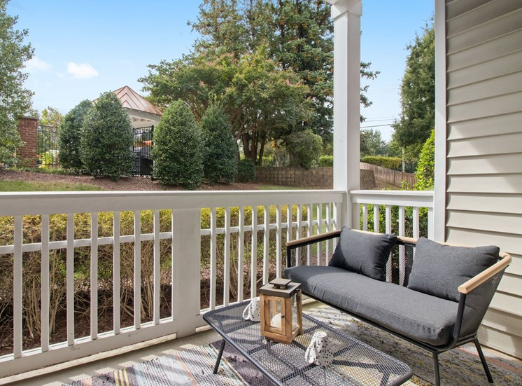 Patios and Balconies at The Enclave at Crossroads in Cary, NC. Offering a variety of open floor plans