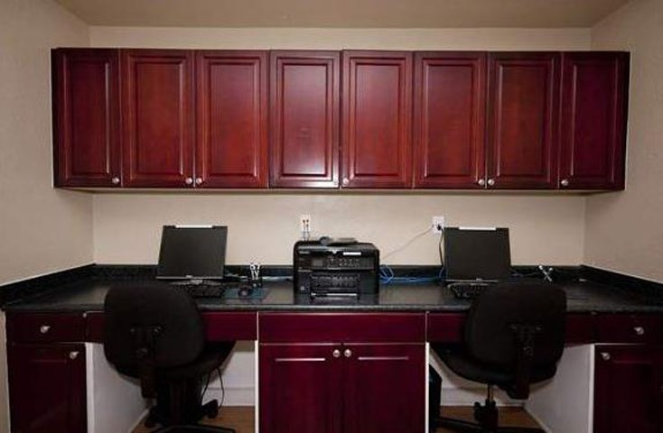 Updated Kitchen With Black Appliances at The Enclave at Crossroads, North Carolina