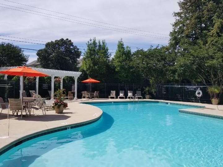 Extensive Resort Inspired Pool Deck at The Enclave at Crossroads, Raleigh, NC