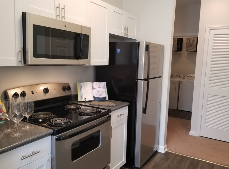 Efficient Appliances In Kitchen at The Enclave at Crossroads, North Carolina, 27606