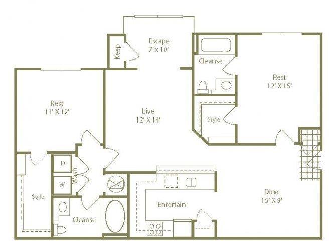 The East Hampton Floor Plan 3