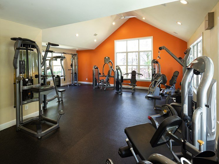 24 Hour Health and Fitness Club including TVs and Cardio and Weight Training at The Lexington Apartments, Nashville, TN 37209