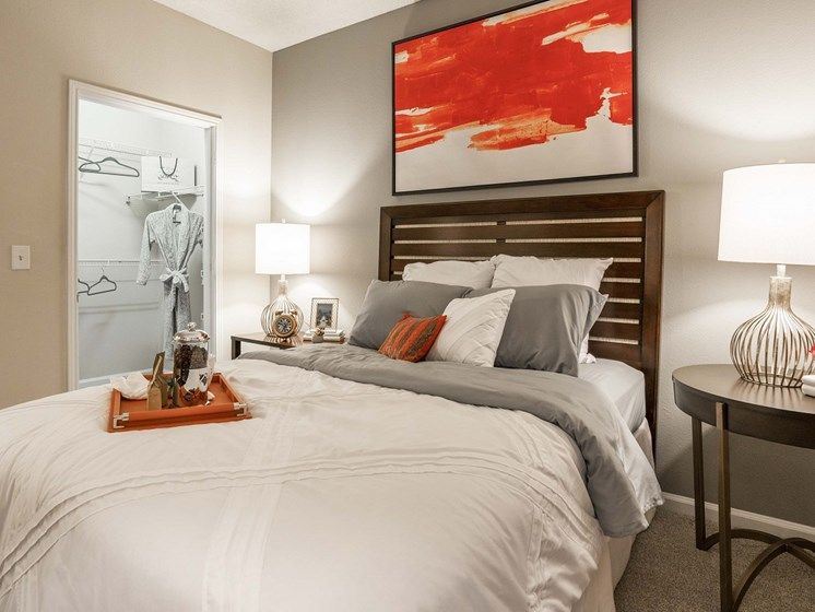 Guest Bedroom Feels Large and Spacious with Impressive 9 Foot Ceilings and Large Walk-In Closets at The Lexington Apartments, Nashville, TN 37209
