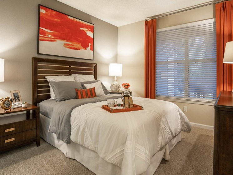 Master Bedroom Feels Large and Spacious with Impressive 9 Foot Ceilings and Large Walk-In Closets at The Lexington Apartments, Nashville, TN 37209
