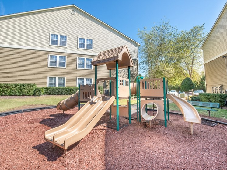 Children have a place to run and play at The Overlook too! Slides, Climbing Equipment and Bike Parking at The Overlook Apartments Homes, Antioch, TN 37013