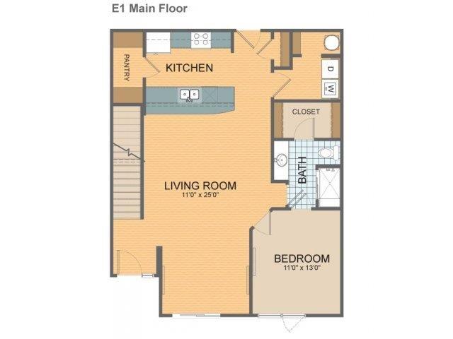 Parkside Townhome - E1 Floor Plan 20
