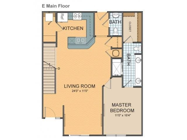 Parkside Townhome - E Floor Plan 19