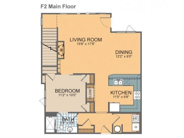 Parkside Townhome- F2 Floor Plan 24