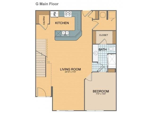 Parkside Townhome - G Floor Plan 26