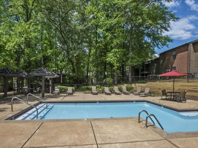 With two pools on property, we have plenty of opportunity for relaxation! Both pools include outdoor kitchens & chairs for relaxing at The Summit Apartments, Memphis, TN 38128