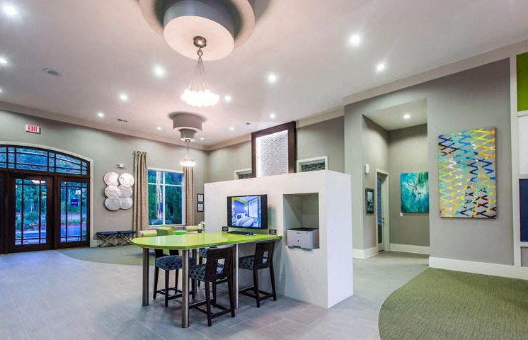 Stunning Modern Design Community Clubhouse with Ample Space and Amenities at Twenty25 Barrett Apartments, Kennesaw, GA 30144