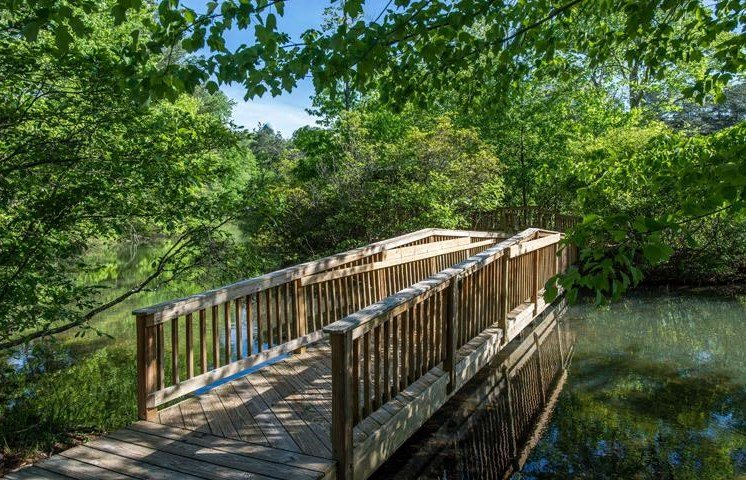 Lush landscaping, gorgeous lake with fountain and jogging trails surround you at Twenty25 Barrett Apartments, Kennesaw, GA 30144