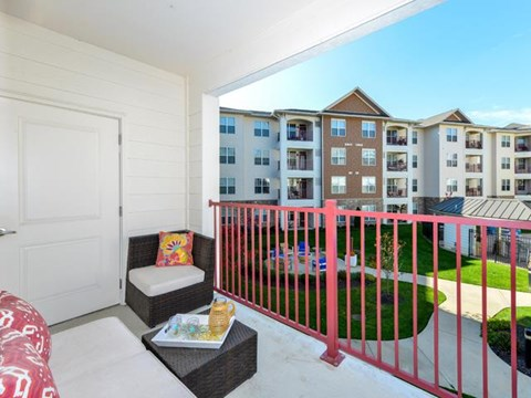 Highly Desirable Outdoor Spaces as Patio or Balcony at Vanguard Crossing Apartments, University City, MO 63124