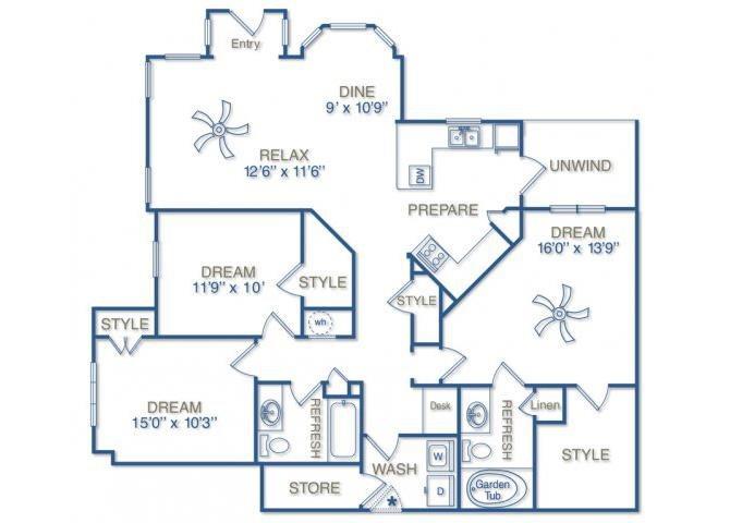 THE CHATHAM Floor Plan 16