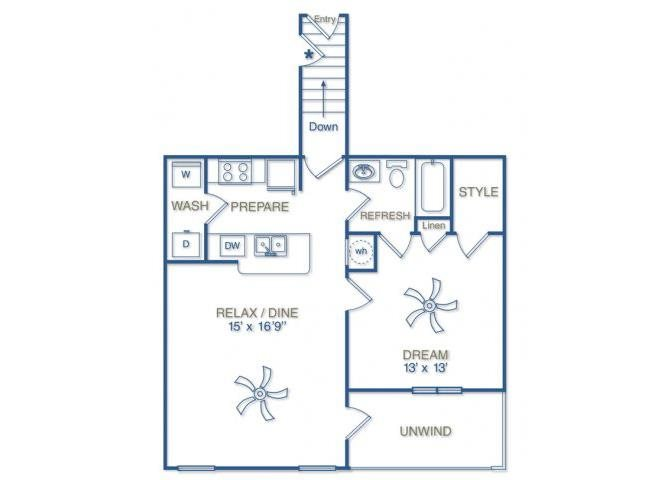 THE FORSYTH WITH ATTACHED 1 CAR GARAGE Floor Plan 3