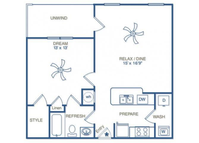 THE MADISON with ATTACHED 1 CAR GARAGE Floor Plan 1