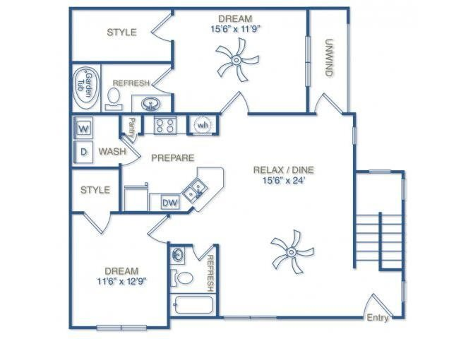 THE PULASKI WITH ATTACHED DOUBLE-CAR GARAGE Floor Plan 11