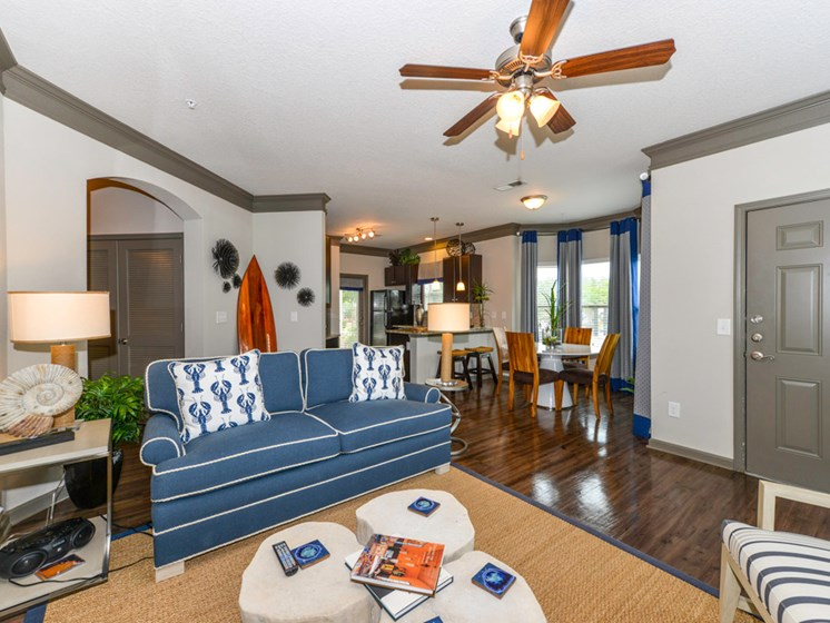Trendy Living Room at Villas at Park Avenue, Pooler