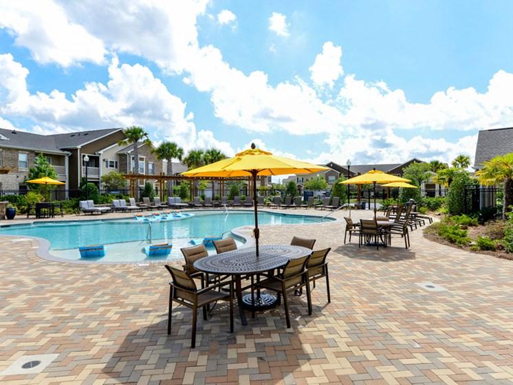 Lounge Swimming Pool With Cabana at Villas at Park Avenue, Pooler, GA, 31322
