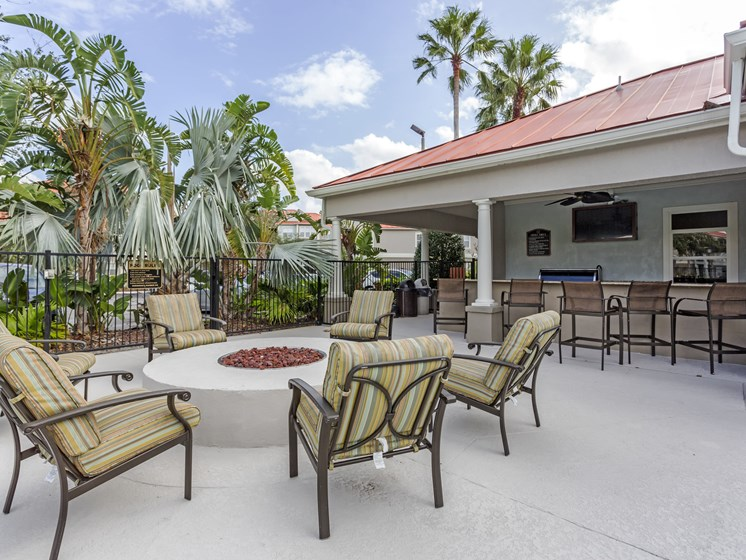 Grill up a Gourmet Meal using our Outdoor Kitchen and Fire Pit at Westlake Apartment Homes, Sanford, FL 3277