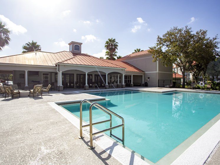 Enjoy our Two Refreshing Swimming Pools with Relaxing Poolside Lounge Chairs at Westlake Apartment Homes, Sanford, FL 3277