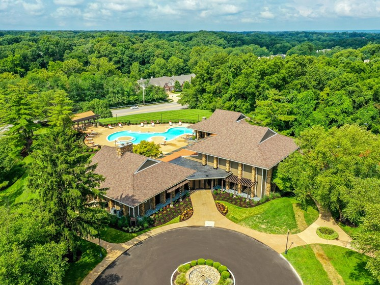 Aerial view of property at 15Seventy, Chesterfield, MO 63017