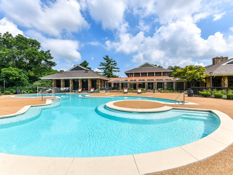 Pool deck at 15Seventy, Chesterfield, MO 63017