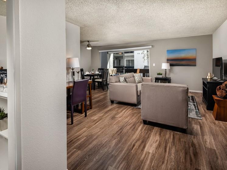 Bright Living Room With TV at Warner Villa, California, 91367