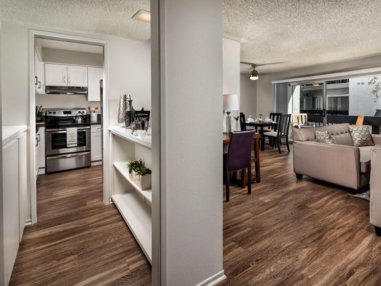 Living Room Come Kitchen View at Warner Villa, California