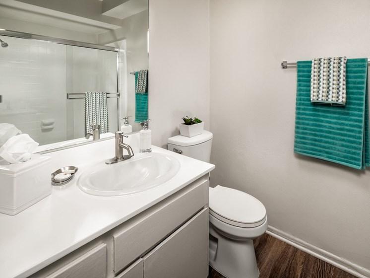Quartz Countertops In Bathrooms at Warner Villa, Woodland Hills, CA, 91367