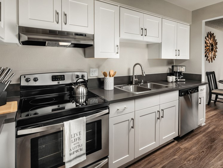 Fully Equipped Eat-In Kitchen at Warner Villa, Woodland Hills, California