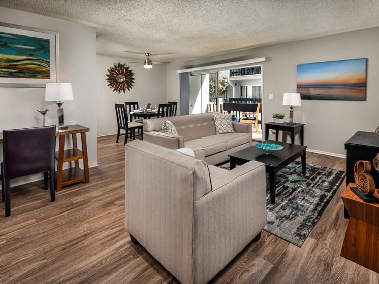 Classic Living Room Design at Warner Villa, Woodland Hills