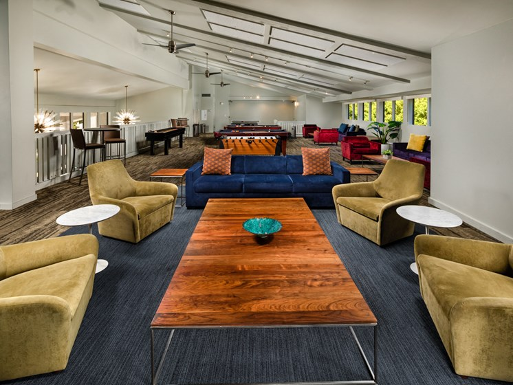 Relaxing Clubhouse at Warner Villa, Woodland Hills, CA