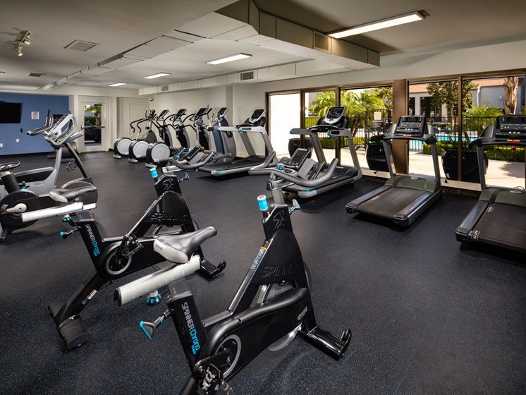 Large and Clean Fitness Center at Warner Villa, Woodland Hills, CA