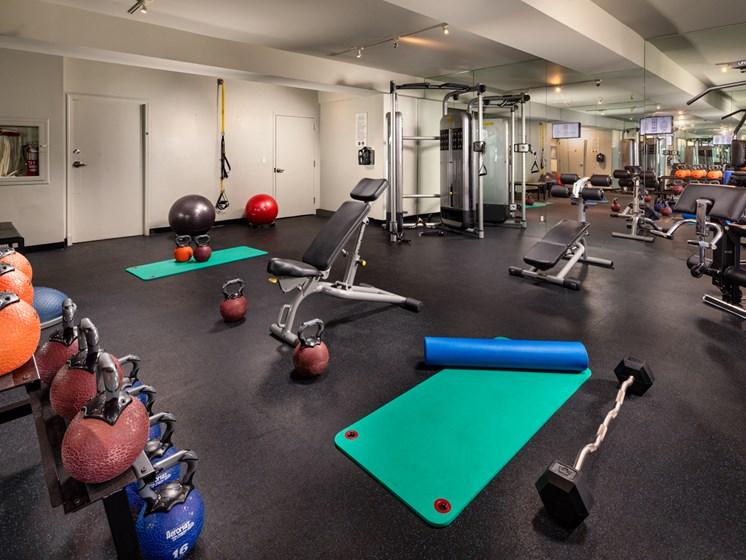 Modern 24/7 Fitness Center at Warner Villa, Woodland Hills, CA