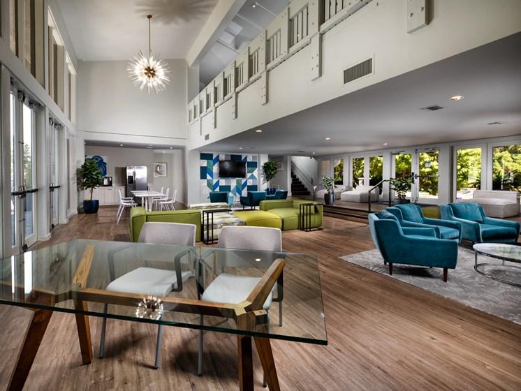 Modern Lobby at Warner Villa, Woodland Hills, CA