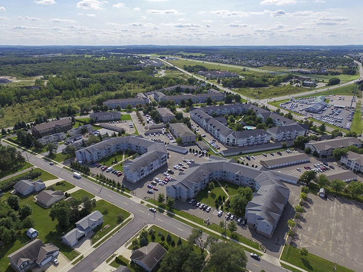 Ariel Photo of the Quarry Commons Community