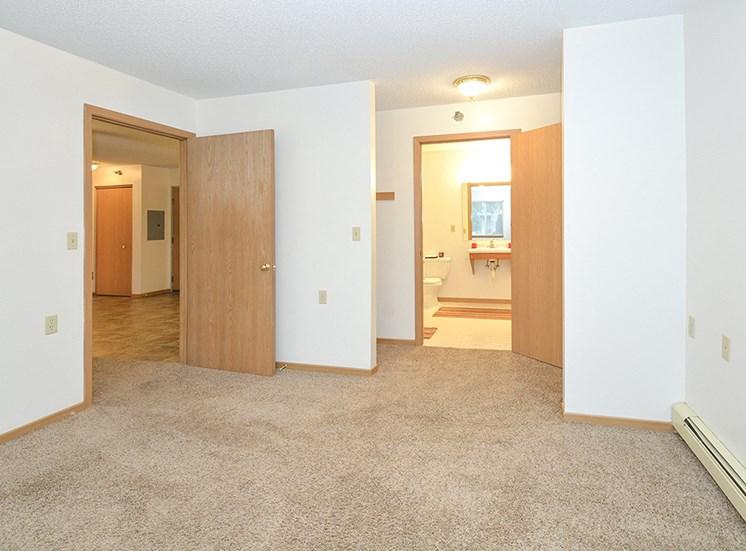 Bedroom Closet and Bathroom Entries