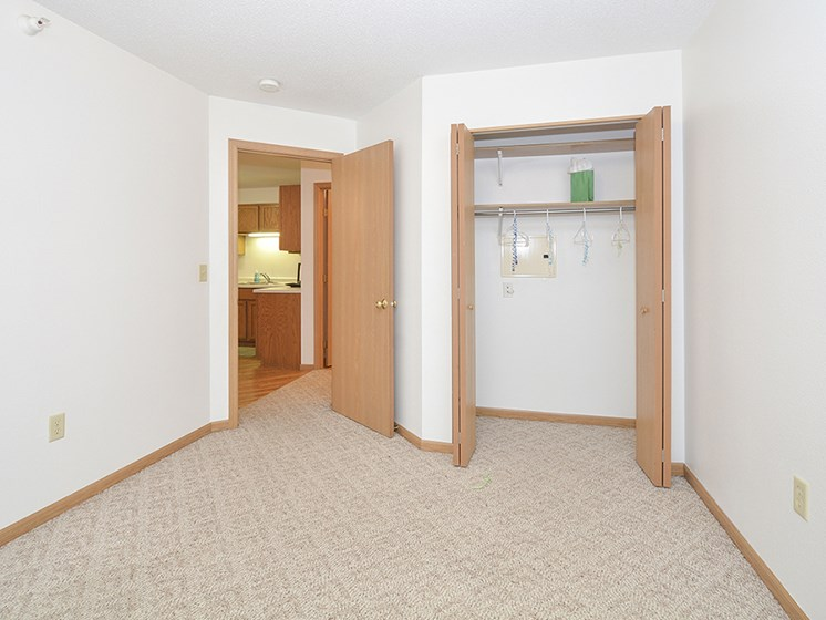 Large Second Bedroom with Sliding Door Closets