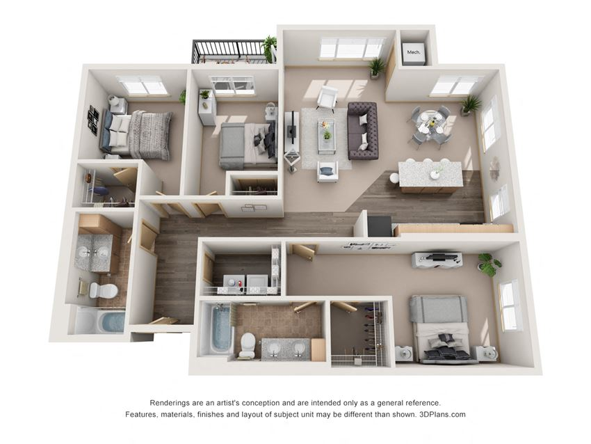 1298 sq.ft. Three Bed Two Bath