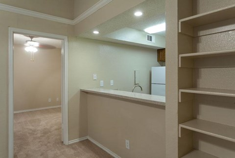 Canyon Ridge Apartments Rockwall, TX Custom Built-in Shelving