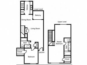 Casa Valley | E Floor Plan 2 Bed 2 Bath