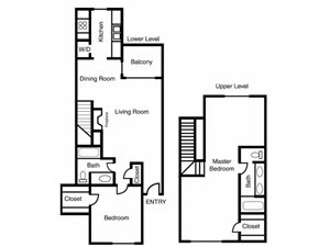 Casa Valley | F Floor Plan 2 Bed 2 Bath