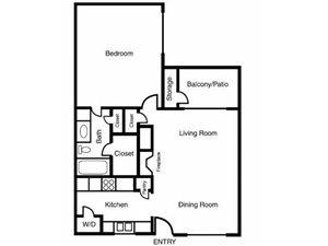 Casa Valley | C Floor Plan 1 Bed 1 Bath