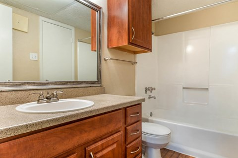 Cinnamon Park Apartments|Bathroom with Vanity Lights