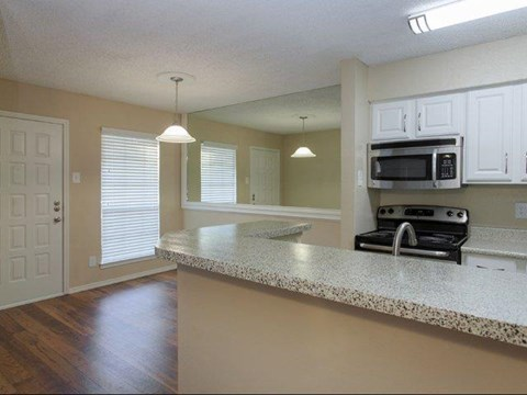Summers Crossing Apartments Plano, TX Kitchen with Breakfast Bar